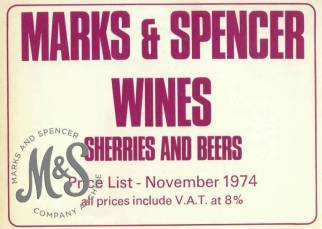 image HO-11-1-2-1 Marketing leaflet for wines, sherries and beer
