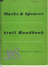 image E6-1-49 Marks and Spencer Staff Handbook c1950s