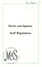 image E6-1-26 Marks and Spencer Staff Regulations, 1966